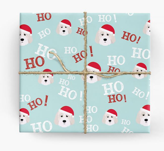 'Ho! Ho! Ho!' Wrapping Paper with your Australian Labradoodle Icon