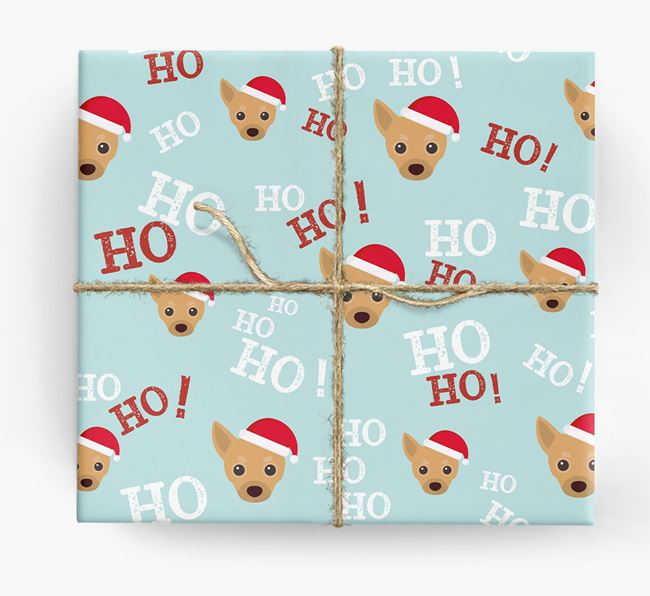 'Ho! Ho! Ho!' Wrapping Paper with your Chihuahua Icon