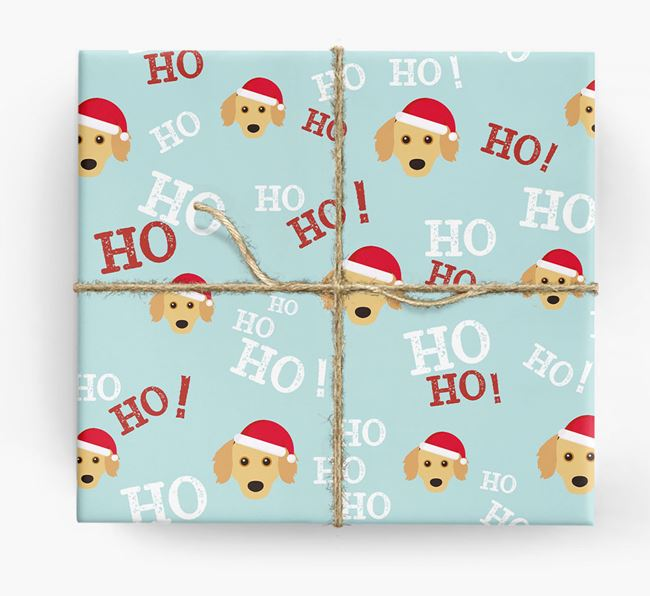 'Ho! Ho! Ho!' Wrapping Paper with your Chiweenie Icon