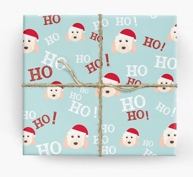 'Ho! Ho! Ho!' Wrapping Paper with your Cockapoo Icon