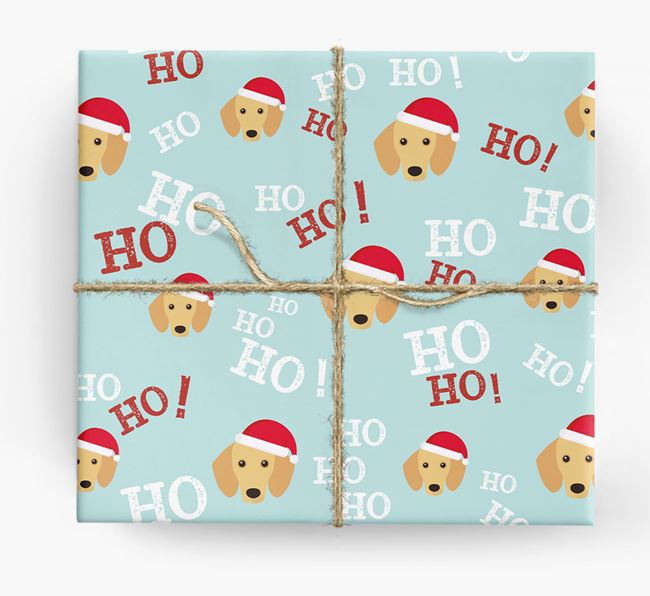 'Ho! Ho! Ho!' Wrapping Paper with your Dachshund Icon