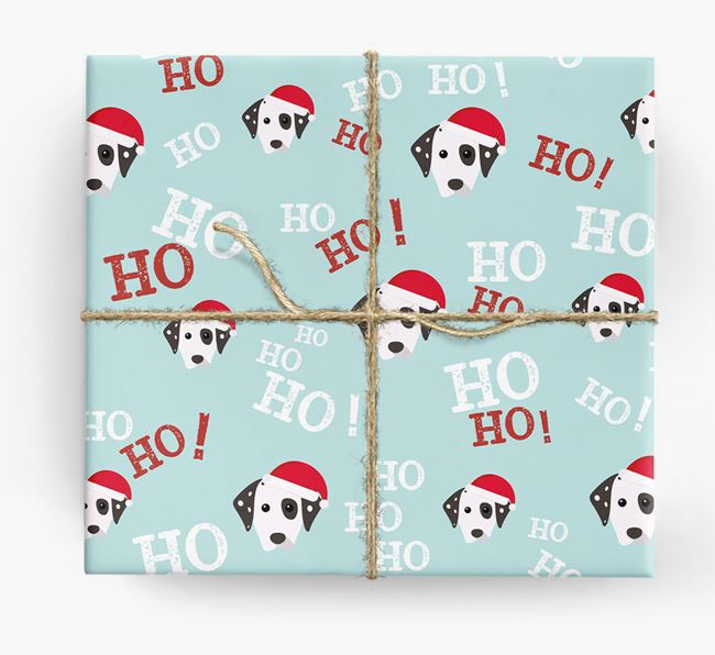 'Ho! Ho! Ho!' Wrapping Paper with your Dog Icon