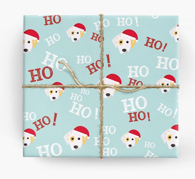 'Ho! Ho! Ho!' Wrapping Paper with your Dalmatian Icon