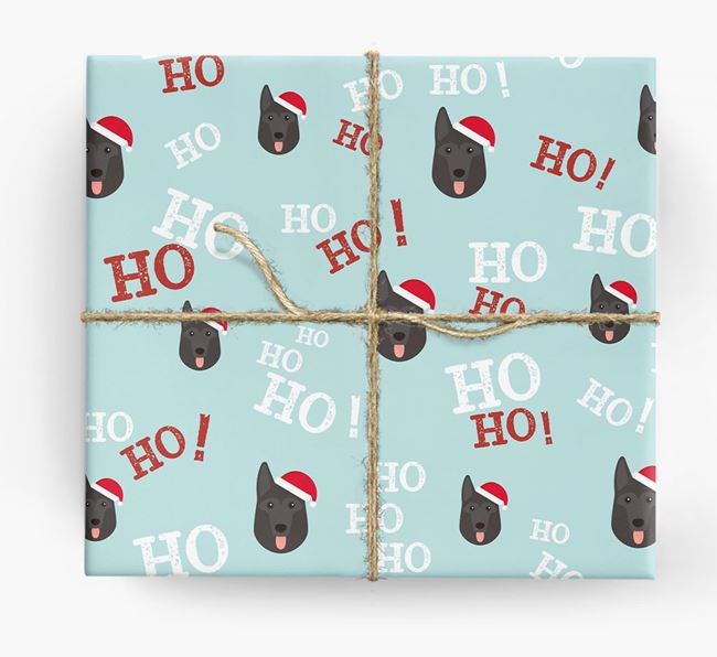 'Ho! Ho! Ho!' Wrapping Paper with your German Shepherd Icon
