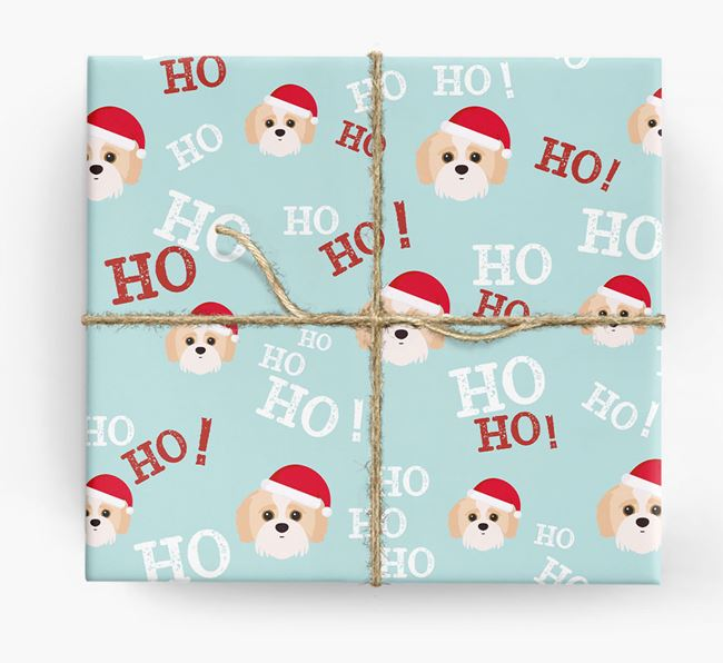'Ho! Ho! Ho!' Wrapping Paper with your Jack-A-Poo Icon