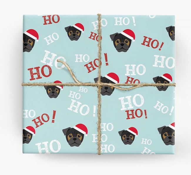 'Ho! Ho! Ho!' Wrapping Paper with your Jug Icon
