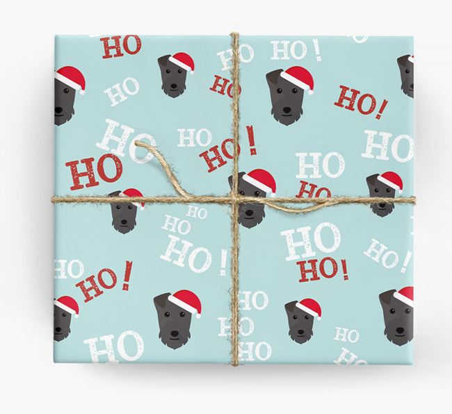 'Ho! Ho! Ho!' Wrapping Paper with your Lakeland Terrier Icon