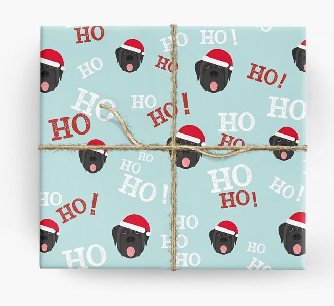 'Ho! Ho! Ho!' Wrapping Paper with your Mastiff Icon