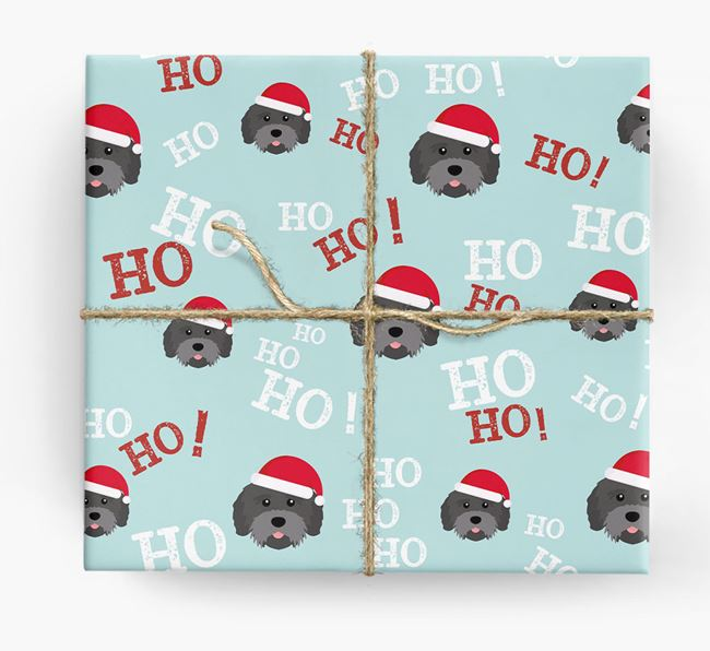 'Ho! Ho! Ho!' Wrapping Paper with your Mixed Breed Icon