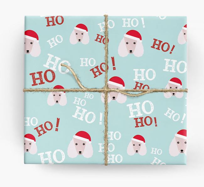 'Ho! Ho! Ho!' Wrapping Paper with your Poodle Icon