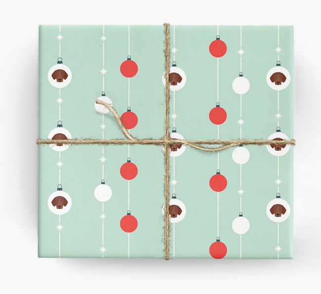 'Baubles' Wrapping Paper with your Pointer Icon