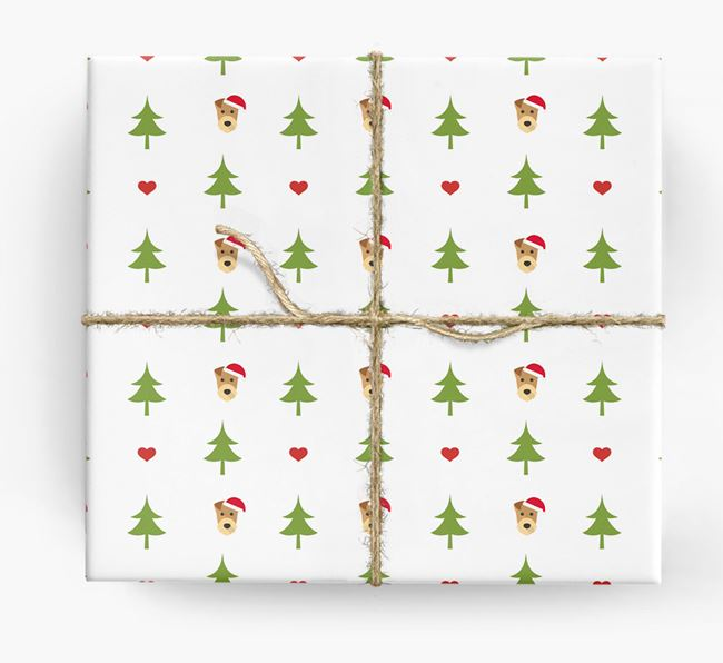 'Christmas Tree' Wrapping Paper with your Airedale Terrier Icon Pattern