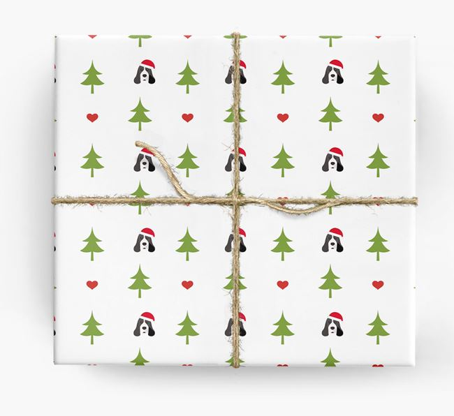 'Christmas Tree' Wrapping Paper with your American Cocker Spaniel Icon Pattern