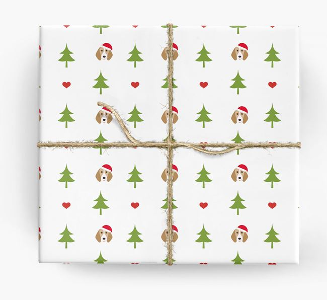 'Christmas Tree' Wrapping Paper with your Beagle Icon Pattern