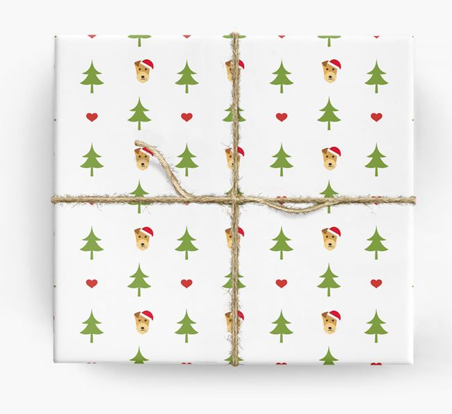 'Christmas Tree' Wrapping Paper with your Lakeland Terrier Icon Pattern