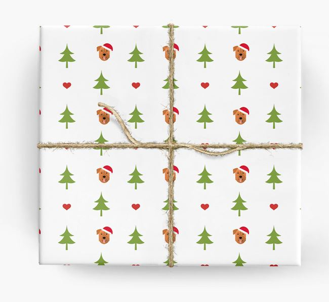 'Christmas Tree' Wrapping Paper with your Mixed Breed Icon Pattern