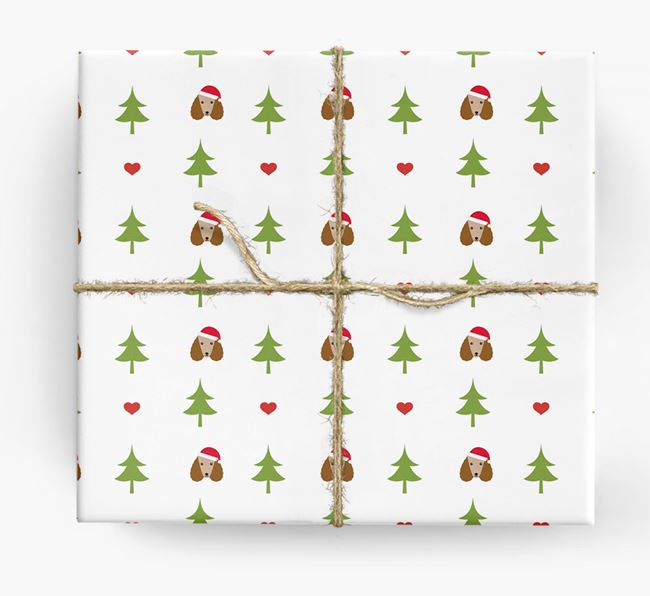 'Christmas Tree' Wrapping Paper with your Poodle Icon Pattern