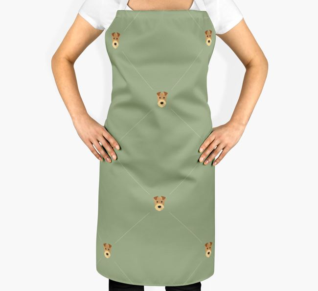 Airedale Terrier Apron - Yappicon Diamond Pattern