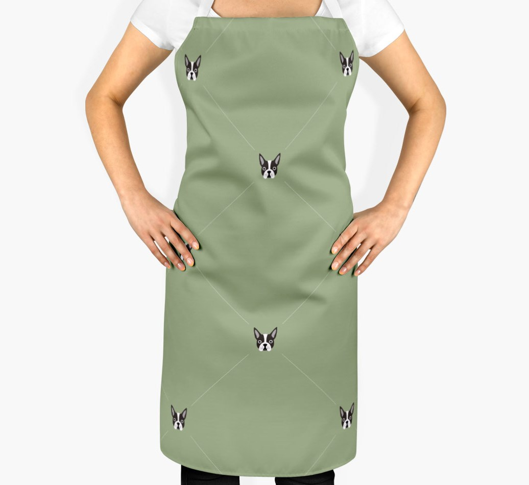 Boston Terrier Apron - Icon Diamond Pattern - 2