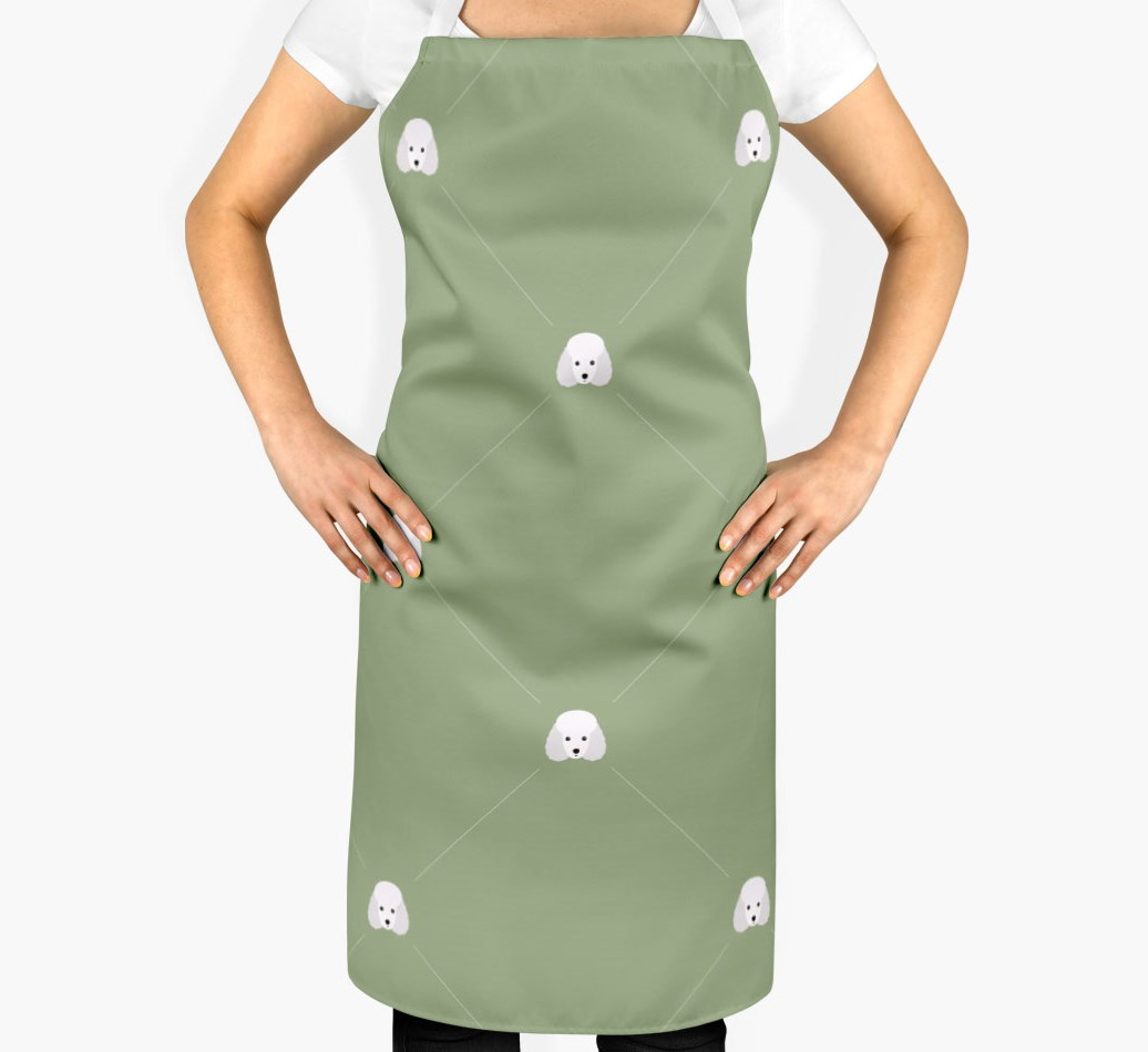 Miniature Poodle Apron - Icon Diamond Pattern - 2