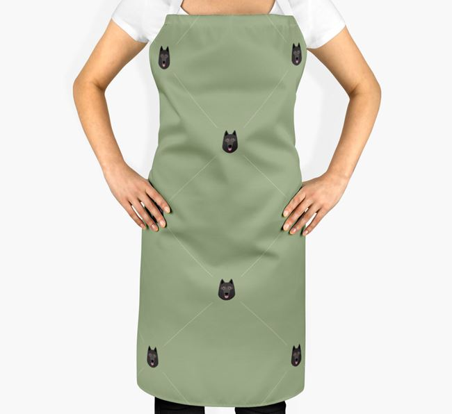 Schipperke Apron - Yappicon Diamond Pattern