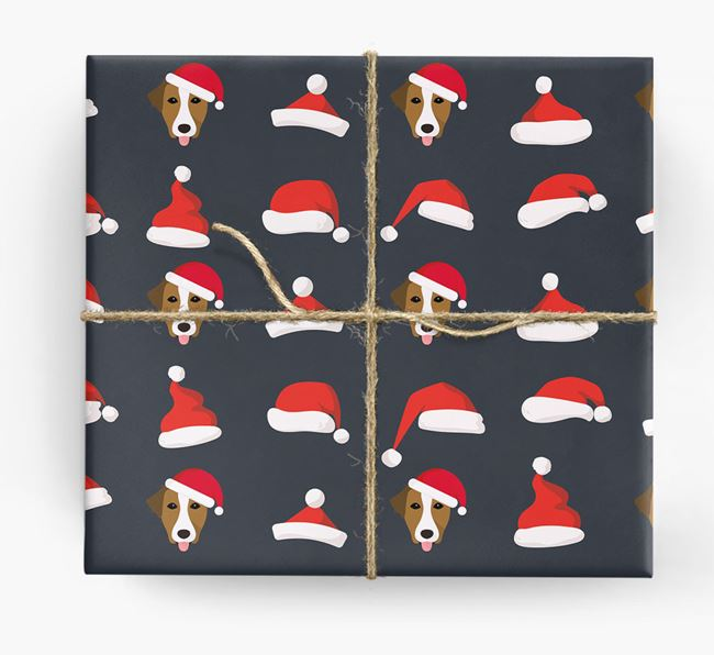 'Santa Hat' Wrapping Paper with your Borador Icon Pattern