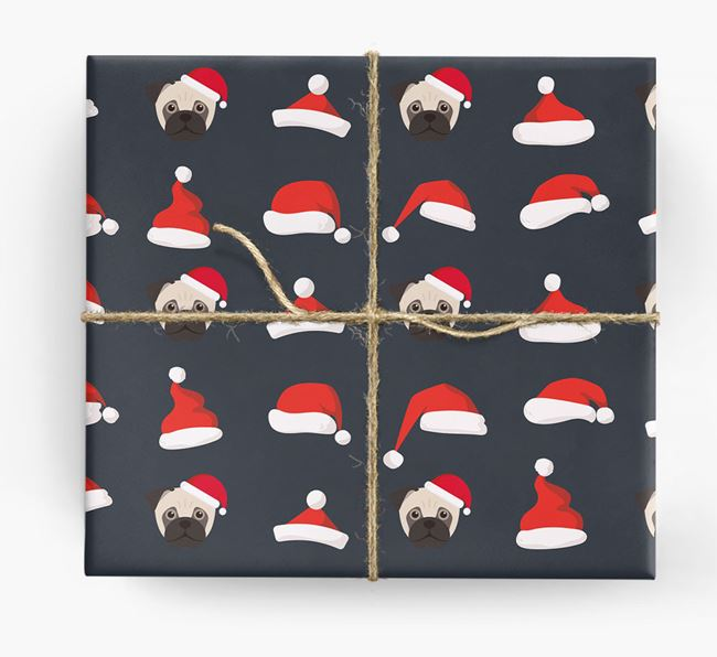 'Santa Hat' Wrapping Paper with your Jug Icon Pattern
