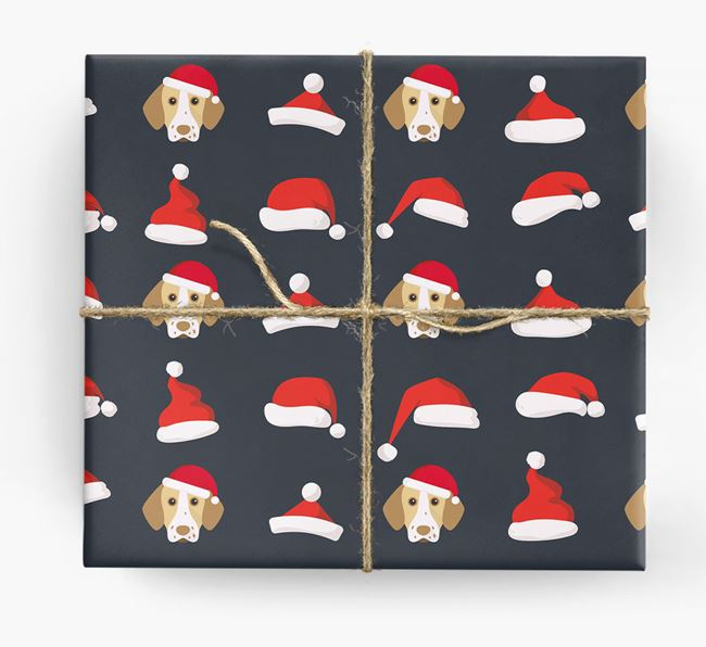 'Santa Hat' Wrapping Paper with your Pointer Icon Pattern