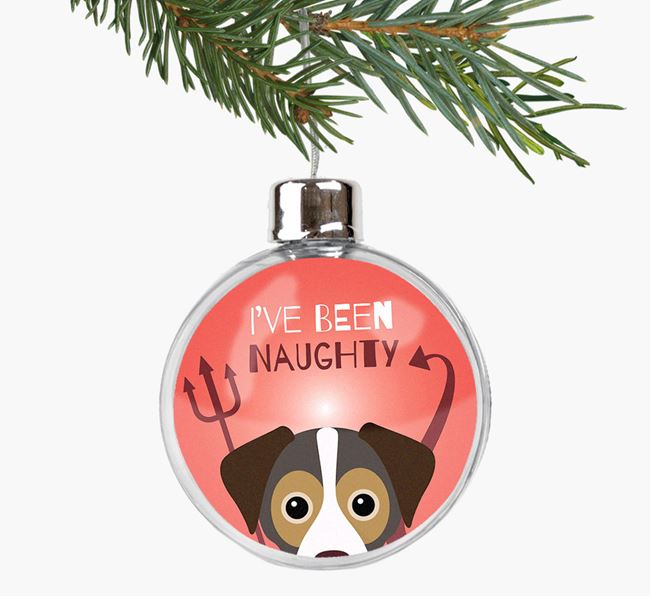 'I've been Naughty' Fillable Bauble with your Cheagle Icon