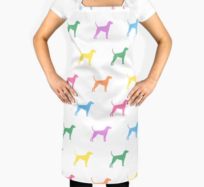 English Coonhound Apron - Coloured Silhouettes Pattern