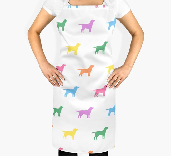 Dog Apron - Coloured Silhouettes Pattern