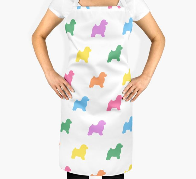 Toy Poodle Apron - Coloured Silhouettes Pattern