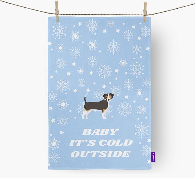 Tea Towel 'Baby, It's Cold Outside' with Cheagle Icon