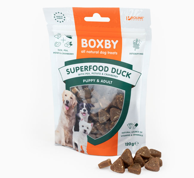 Superfood Duck pea Cranberry Treats for your Dog
