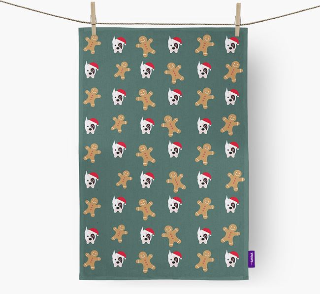 Tea Towel 'Gingerbread Man' with Boxer Icon