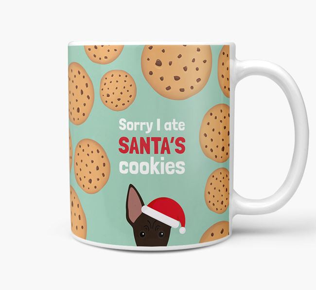 'I ate Santa's Cookies' Christmas Mug with American Hairless Terrier Icon