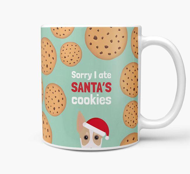 'I ate Santa's Cookies' Christmas Mug with Australian Working Kelpie Icon