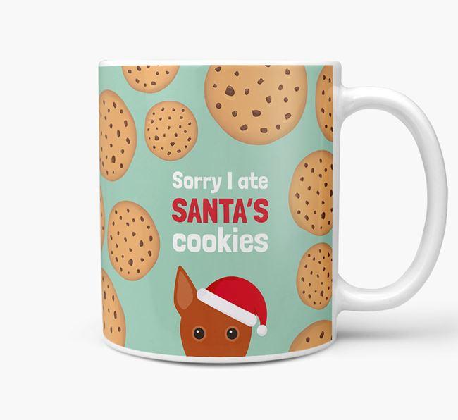 'I ate Santa's Cookies' Christmas Mug with Basenji Icon