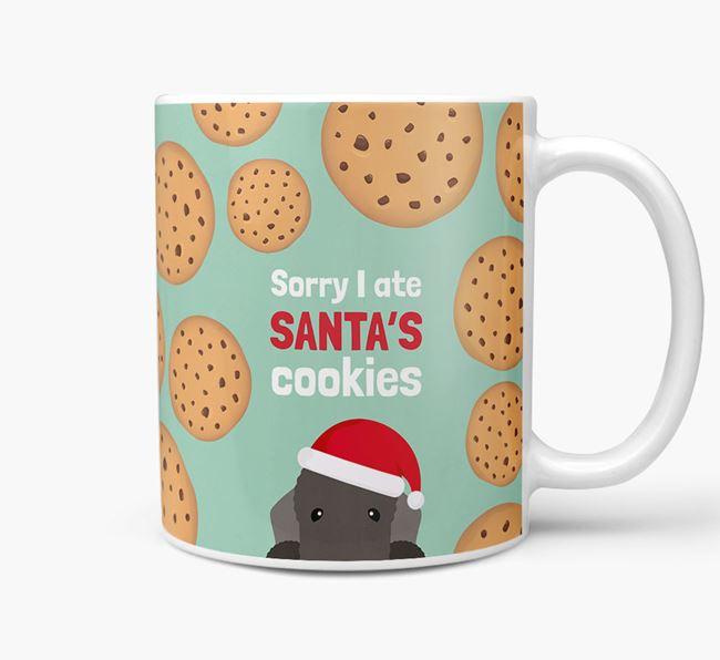 'I ate Santa's Cookies' Christmas Mug with Bedlington Terrier Icon