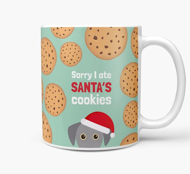 'I ate Santa's Cookies' Christmas Mug with Blue Lacy Icon