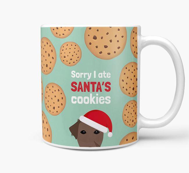 'I ate Santa's Cookies' Christmas Mug with Borador Icon