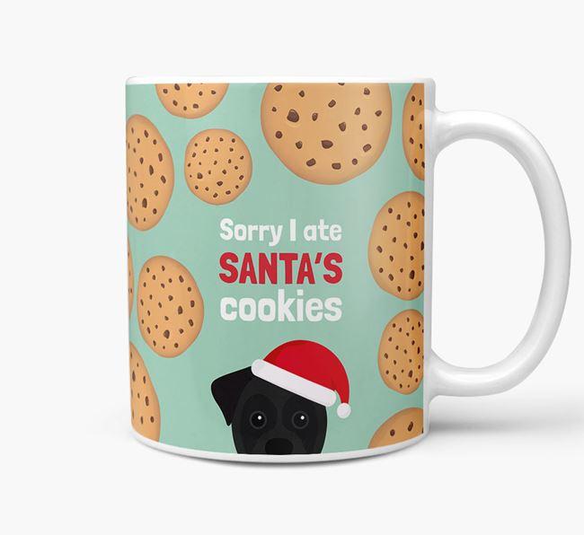 'I ate Santa's Cookies' Christmas Mug with Boxer Icon