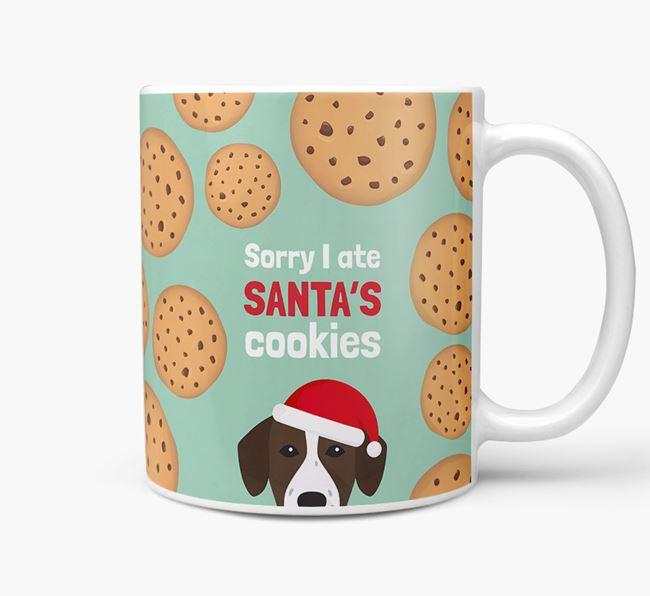 'I ate Santa's Cookies' Christmas Mug with Springador Icon
