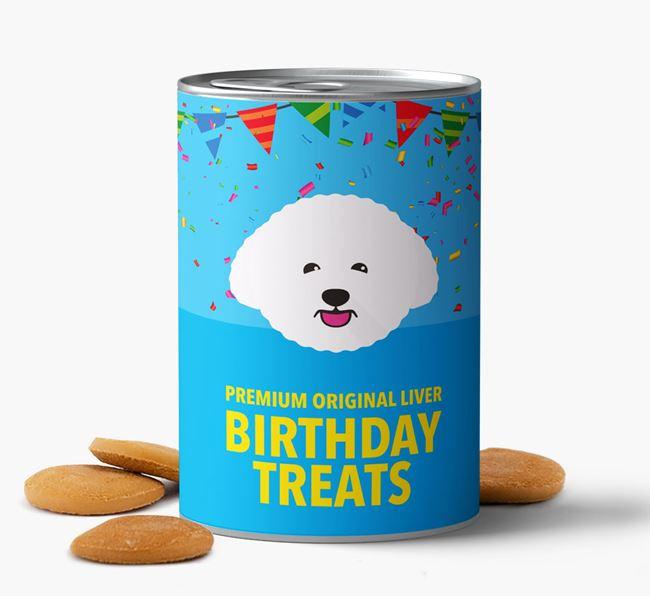 'Bichon Frise Birthday Biscuits