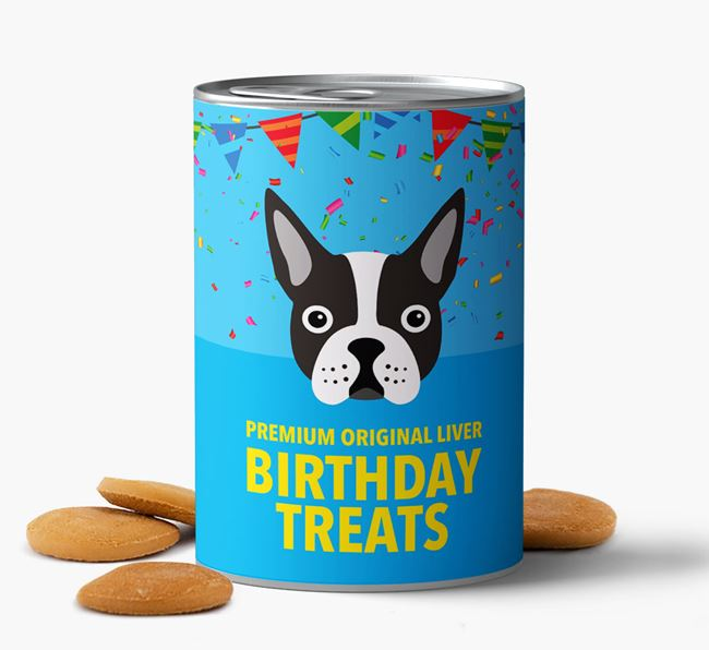 'Boston Terrier Birthday Biscuits