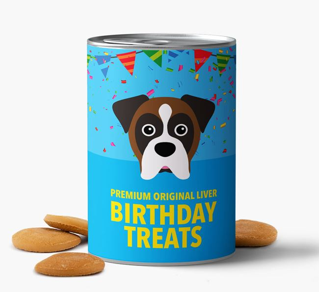 'Boxer Birthday Biscuits