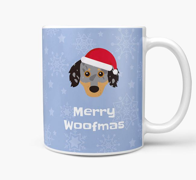 'Merry Woofmas' Christmas Mug with Chiweenie Icon