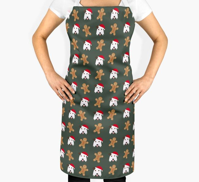Gingerbread Man Apron with Border Collie Icon
