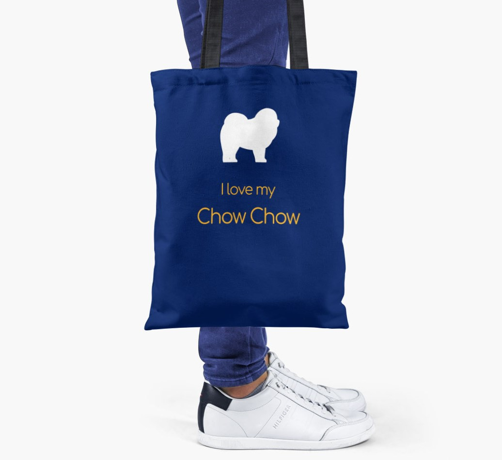 I love my Chow Chow Shopper Bag - Someone Holding