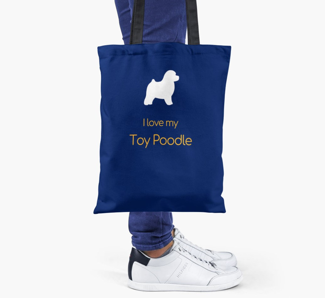 I love my Toy Poodle Shopper Bag - Someone Holding